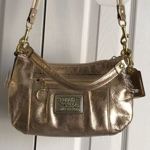 Coach Gold LTH Groovy Brass Poppy Armpit Crossbody